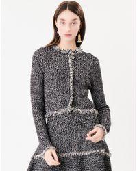 Oscar de la Renta - Tweed Fringe Knit Jacket - Lyst