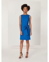 Oscar de la Renta - Stretch-wool Crepe Dress - Lyst