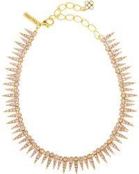 Oscar de la Renta - Crystal Sea Urchin Necklace - Lyst