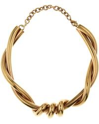 Oscar de la Renta - Gold Twisted Rope Necklace - Lyst