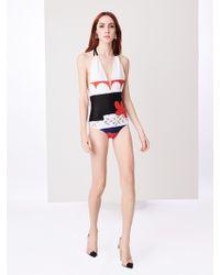 Oscar de la Renta - Carmine Printed Swimsuit - Lyst