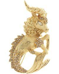 Oscar de la Renta - Crystal Ram Brooch - Lyst