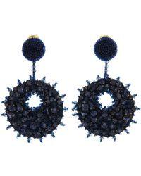 Oscar de la Renta - Bold Disk Crystal Earrings - Lyst