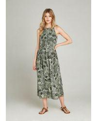 Apricot - Sommerkleid »Abstract Leaf Midi Dress« in Midi-Länge - Lyst