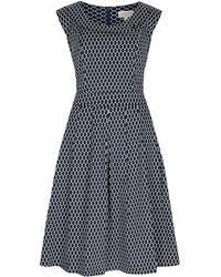 Apricot - Druckkleid »Oval Print Vintage Collar Dress« mit überlappendem Kragen - Lyst