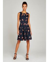 Apricot - Druckkleid »Cut Out Neck Floral Polkadot Dress« mit Kellerfalten - Lyst