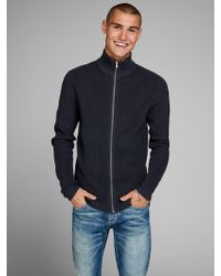 Jack & Jones - Gerippter Strick-Cardigan - Lyst