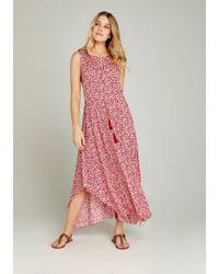Apricot - Maxikleid »Floral Mosaic Hanky Hem Dress« (mit Bindeband) mit Tassel am Taillengürtel - Lyst