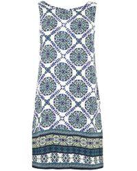 Apricot - Druckkleid »Positano Tile Print Shift Dress« im Mustermix - Lyst