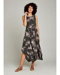 Apricot Sommerkleid »Floral Print Ruched Waist Maxi« mit asymmetrischem Saum