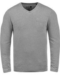 Solid - Langarmshirt »Them« - Lyst