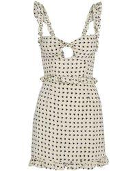 For Love & Lemons - Sweetheart Mini Dress Creme - Lyst