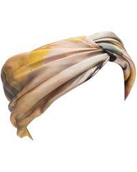 Eugenia Kim - Malia Yellow Floral Print Turban Headband - Lyst
