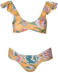 6 Shore Road By Pooja - Palms Bikini Monterrey Blooms Honey - Lyst
