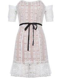 For Love & Lemons - Dakota Lace Mini Dress - Lyst