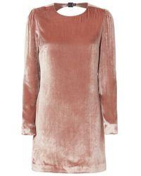 Fleur du Mal - Velvet Mini Dress Platinum Rose - Lyst