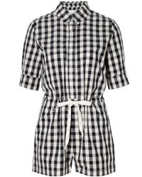 Solid & Striped - The Romper In Black Gingham - Lyst