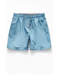 52f49068ca RVCA X Birdwell Point Panic Swim Trunks in Blue for Men - Lyst