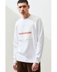 Calvin Klein - Rubber Box Crew Neck Sweatshirt - Lyst
