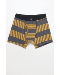 Richer Poorer - Thurston Stripe Charcoal Cotton Boxers - Lyst