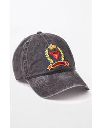 a18aebe7ce48c Guess - Washed Classic Strapback Dad Hat - Lyst