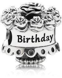 PANDORA - Birthday Cake Charm - Lyst