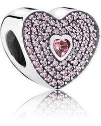 PANDORA - Sweet Heart Charm - Lyst