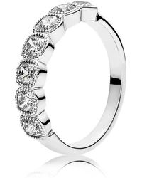 PANDORA - Alluring Cushion Ring - Lyst