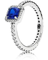 PANDORA - Blue Timeless Elegance Ring - Lyst