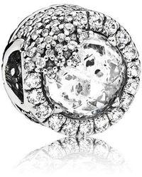 PANDORA - Dazzling Snowflake Charm - Lyst