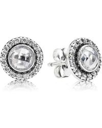 PANDORA - Statement Sparkling Stud Earrings - Lyst