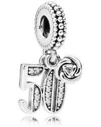 PANDORA - 50 Years Of Love Pendant Charm - Lyst