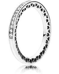 PANDORA - Radiant Hearts Of Ring - Lyst