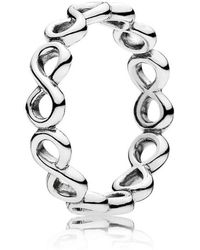 PANDORA - Infinite Shine Ring - Lyst