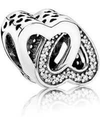 PANDORA - Entwined Love Charm - Lyst