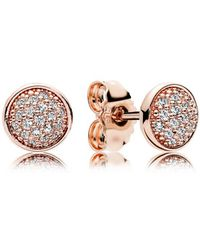 PANDORA - Dazzling Droplets Stud Earrings - Lyst