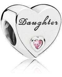 PANDORA - Daughter's Love Charm - Lyst