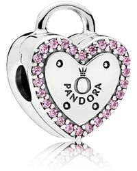 PANDORA - Lock Your Promise Clip - Lyst