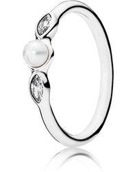 Pandora   Luminous Leaves Ring   Lyst