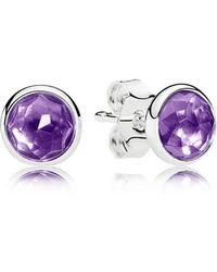 PANDORA - February Droplets Stud Earrings - Lyst