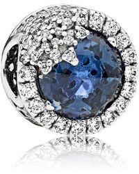 PANDORA - Blue Dazzling Snowflake Charm - Lyst