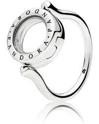 PANDORA - Floating Locket Ring - Lyst