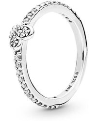 PANDORA - Bedazzling Butterfly Ring - Lyst