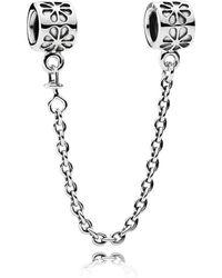 PANDORA - Floral Safety Chain - Lyst