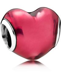 PANDORA - Heart Beat Charm - Lyst