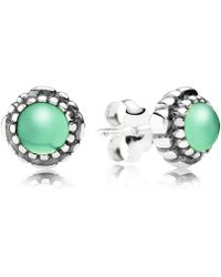 PANDORA - May Birthstone Stud Earrings - Lyst