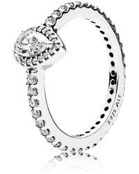 PANDORA - Radiant Teardrop Ring - Lyst