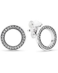 610b8f61e Free People Double Sided Orbit Stud Earrings By Sterling Forever Jewellery  - Lyst