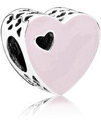 PANDORA - Sweet Love Heart Charm - Lyst