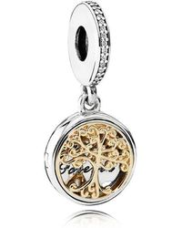 PANDORA - Family Roots Pendant Charm - Lyst